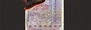 Inflation burning money